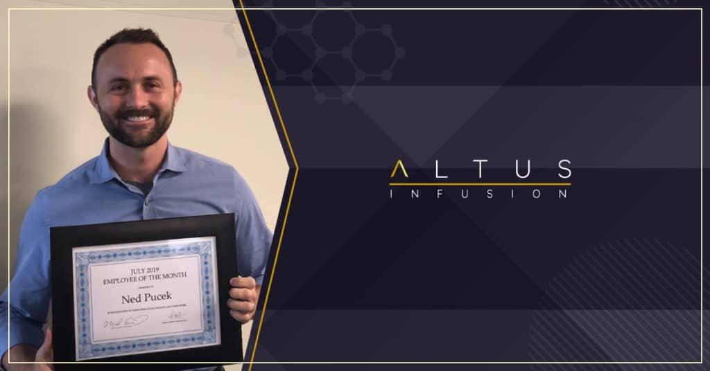 congratulations ned pucek july employee of the month winner